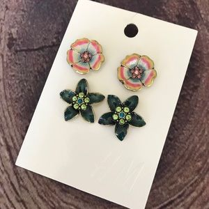 Floral Earrings Set Of Two H&M